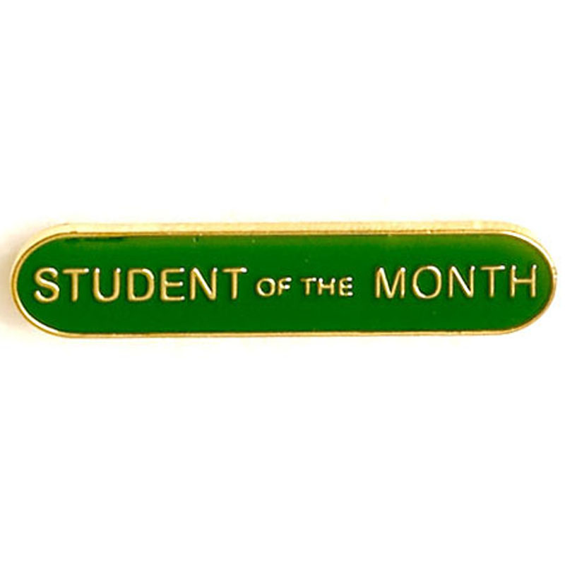 Green Student Of The Month Lapel Badge