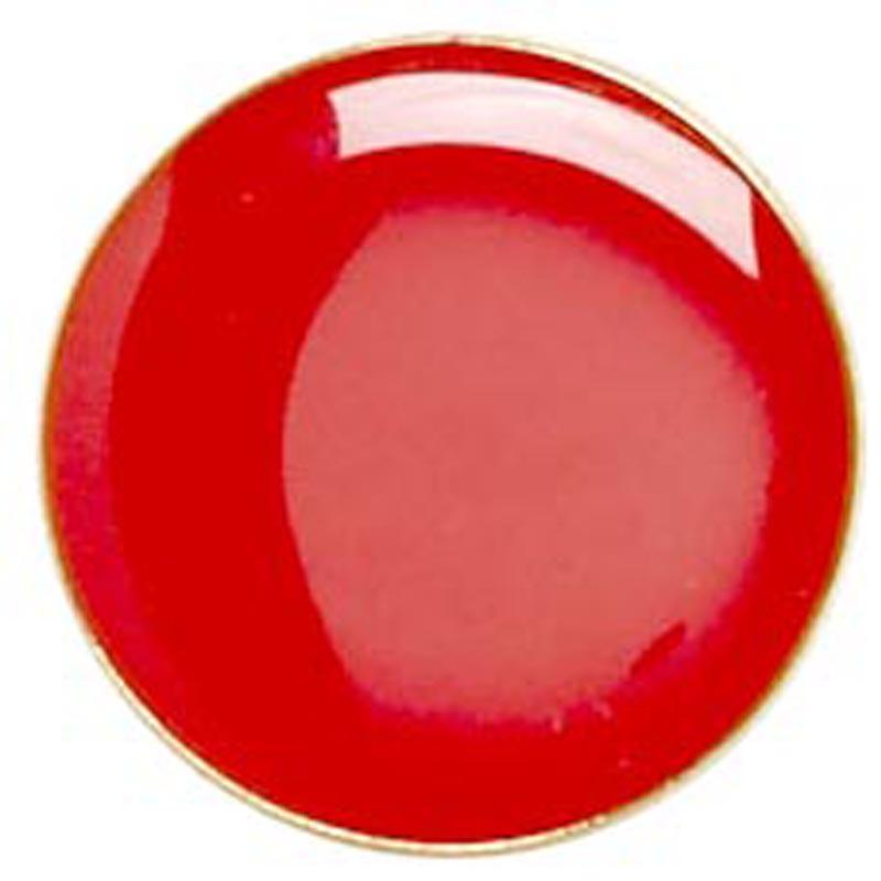 Red Circle Lapel Badge