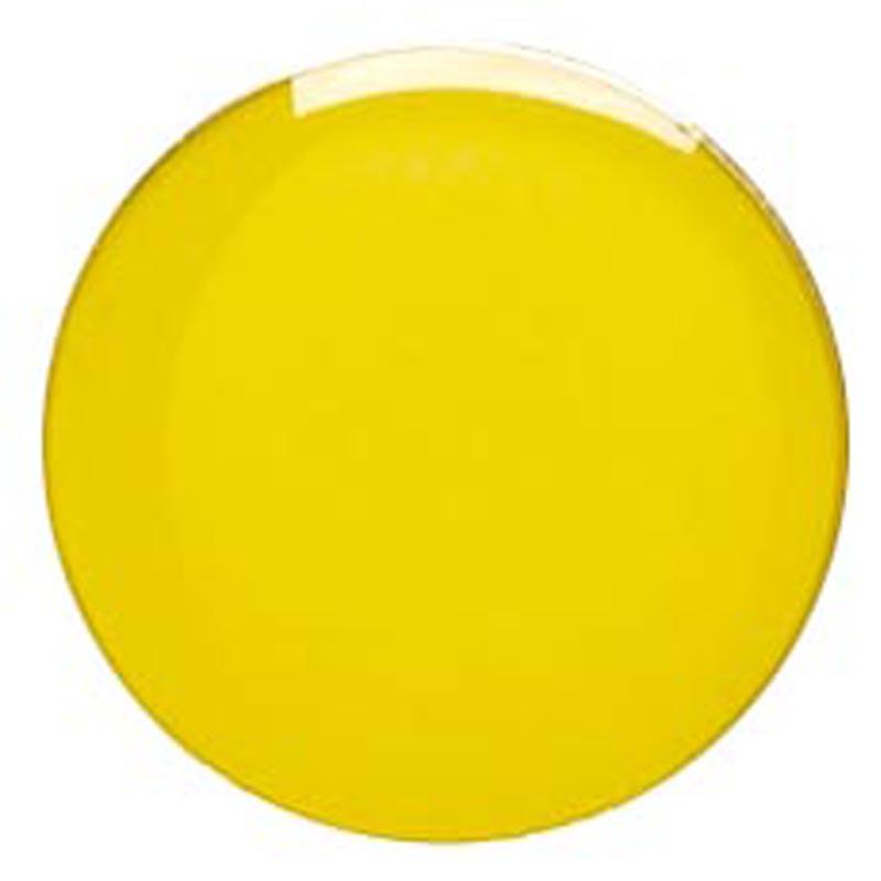 20mm Yellow Circle Lapel Badge
