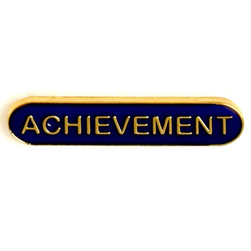 Blue Achievement Lapel Badge