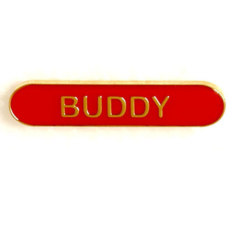 Red Buddy Lapel Badge