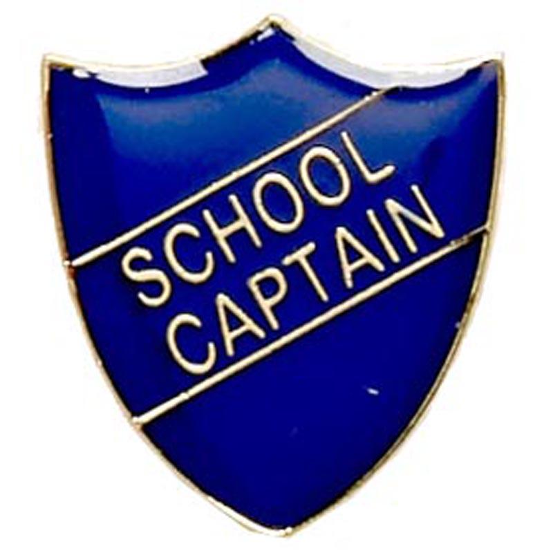 22 x 25mm Blue School Captain Shield Lapel Badge