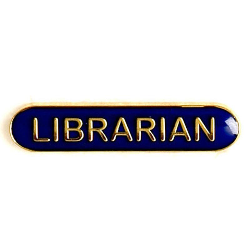 Blue Librarian Lapel Badge