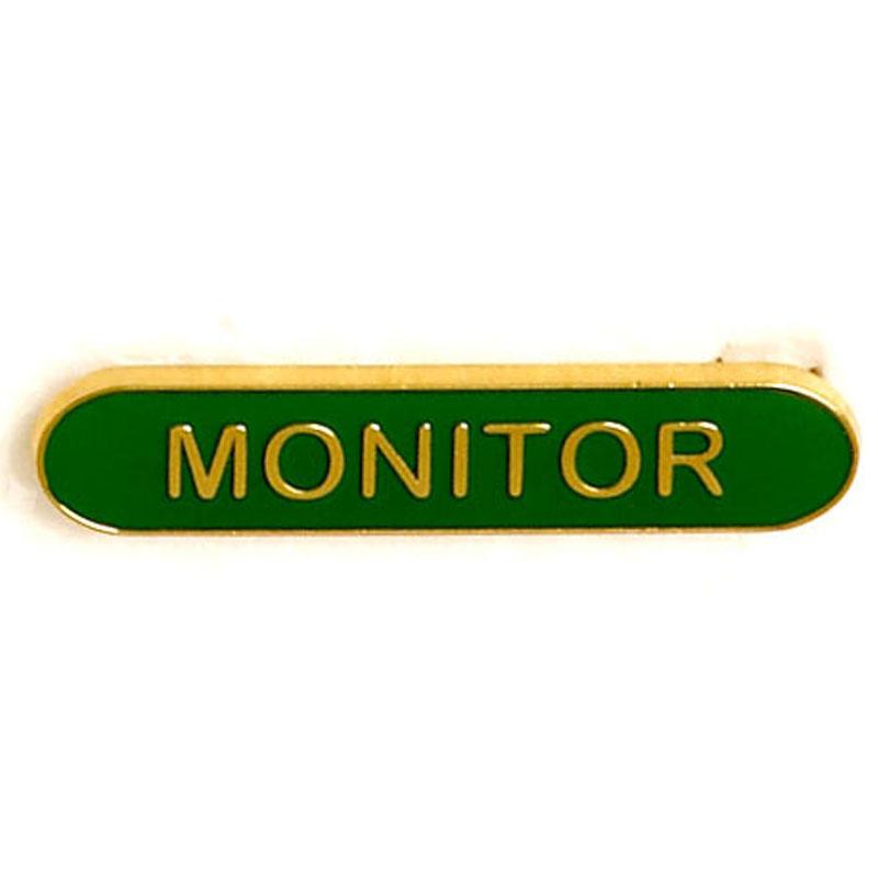 Green Monitor Lapel Badge