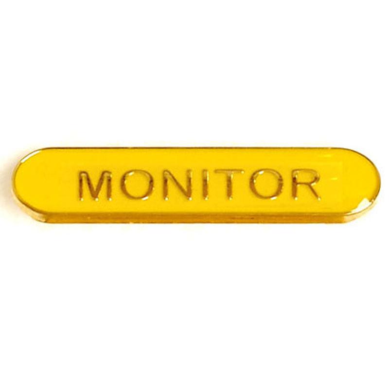 Yellow Monitor Lapel Badge