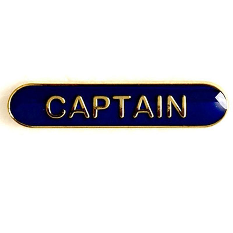 Blue Captain Lapel Badge