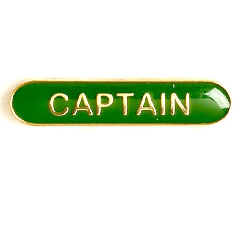 Green Captain Lapel Badge