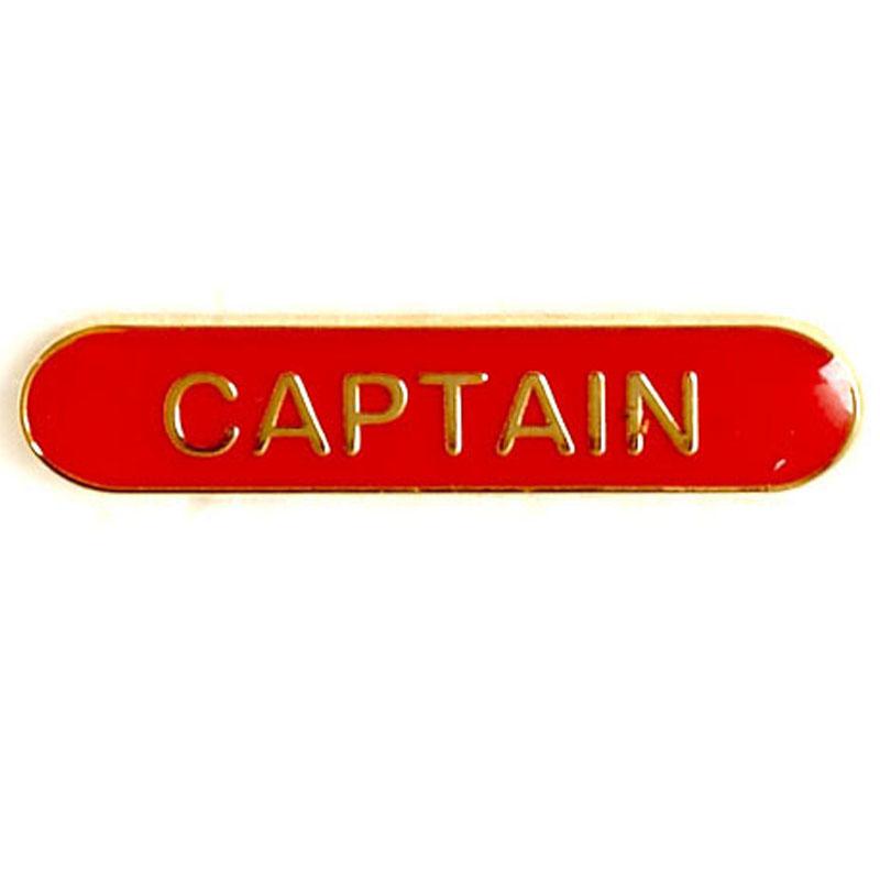 Red Captain Lapel Badge