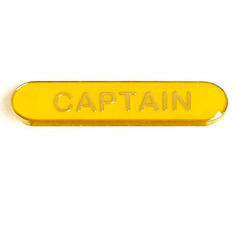 Yellow Captain Lapel Badge