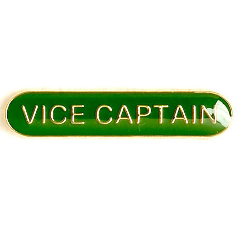 Green Vice Captain Lapel Badge