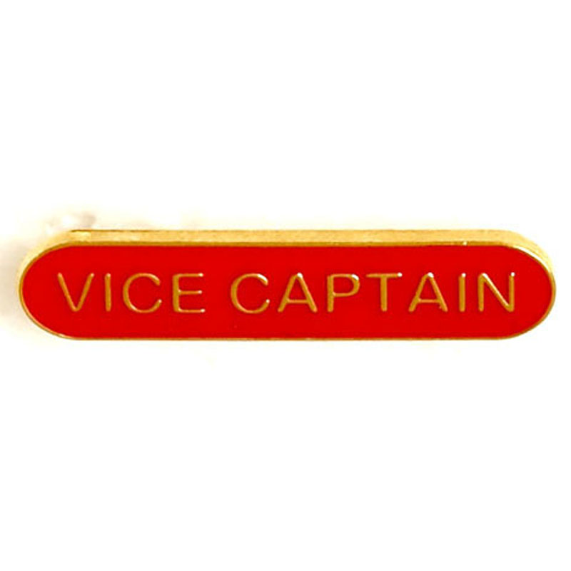 Red Vice Captain Lapel Badge