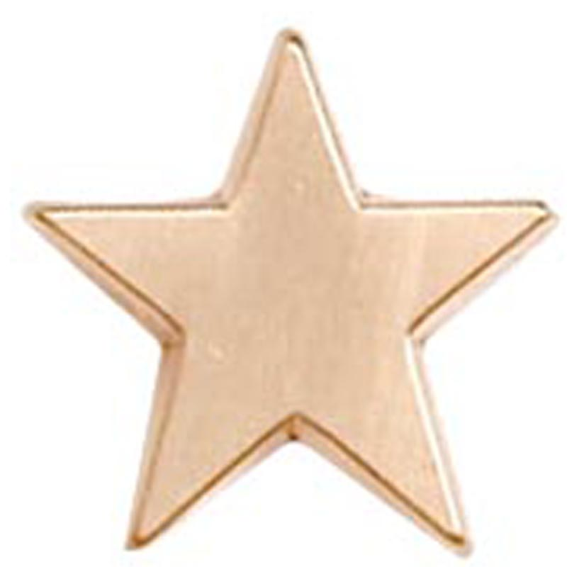 16mm Bronze Simple Star Lapel Badge