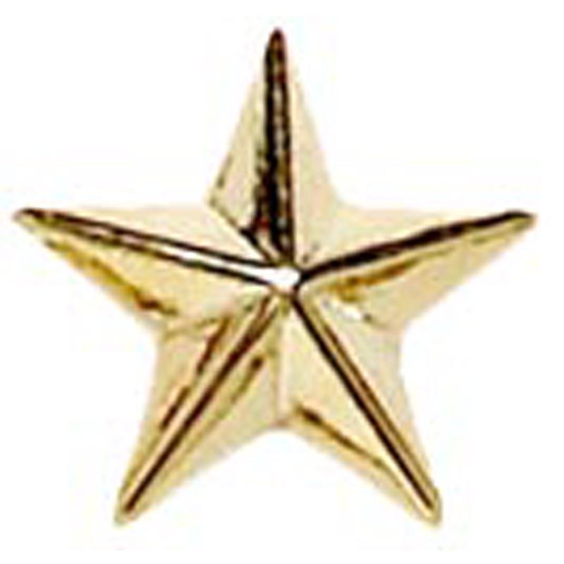 12mm Gold Star Imprinted Lapel Badge