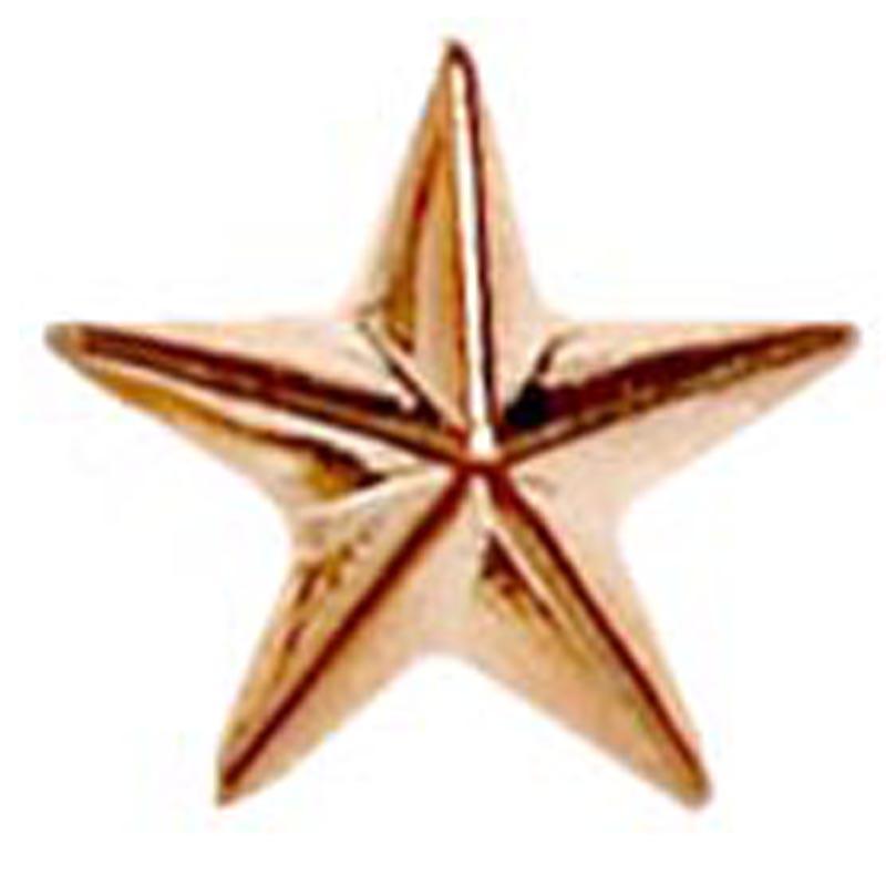 12mm Bronze Imprinted Star Lapel Badge