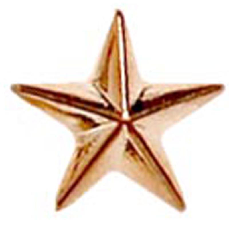 8mm Bronze Detailed Star Lapel Badge