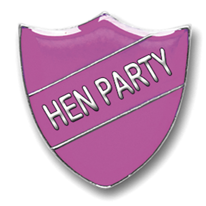 Pink Hen Party Metal Pin Badge