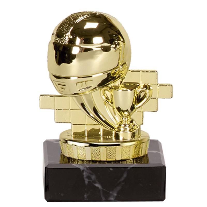 4 Inch Gold Motorsports Helmet Motorsports Mini Award