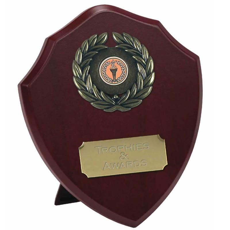 8 Inch Laurel Wreath Presentation Shield