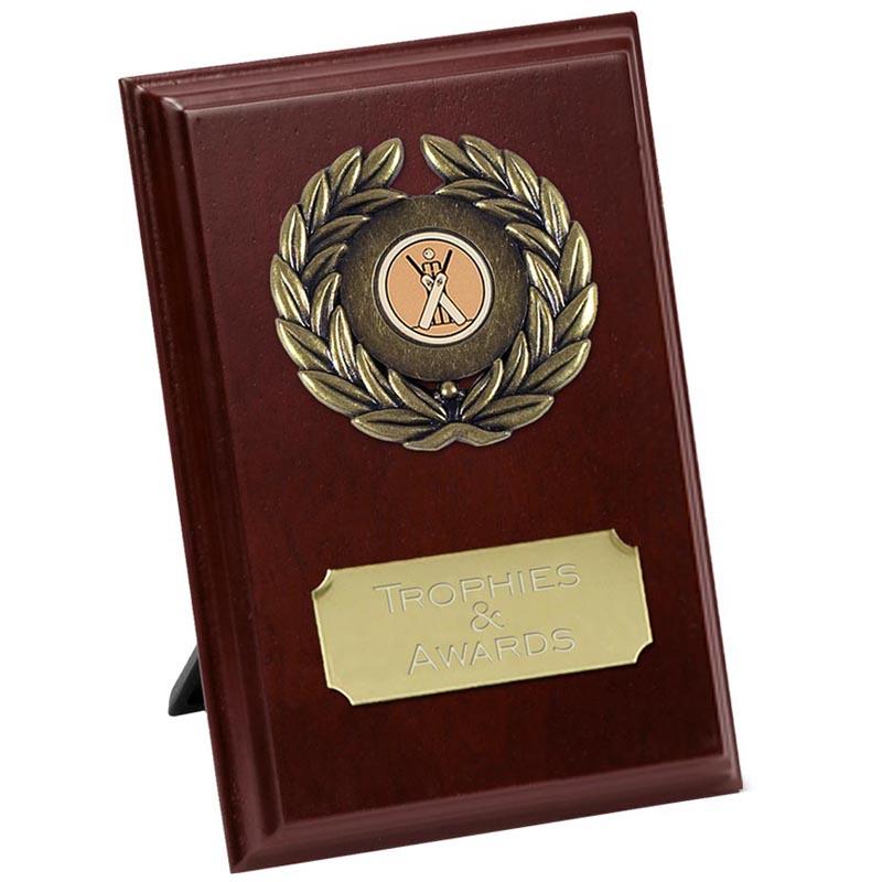 4 Inch Rectangle Wreath Design Plaque Award