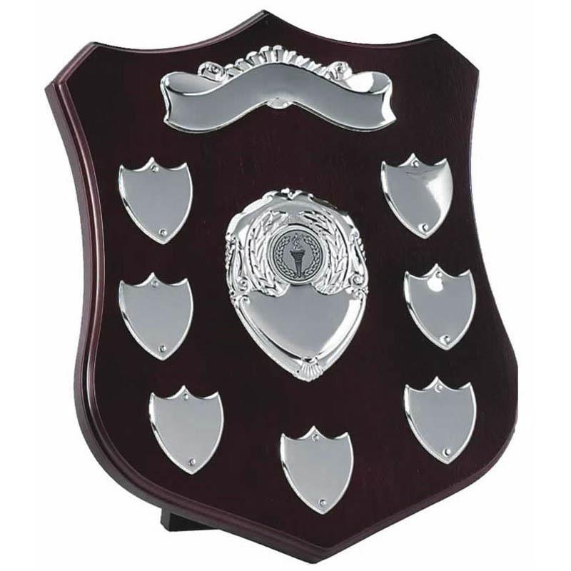 10 Inch Champion Silver Plate Annual Presentation Shield