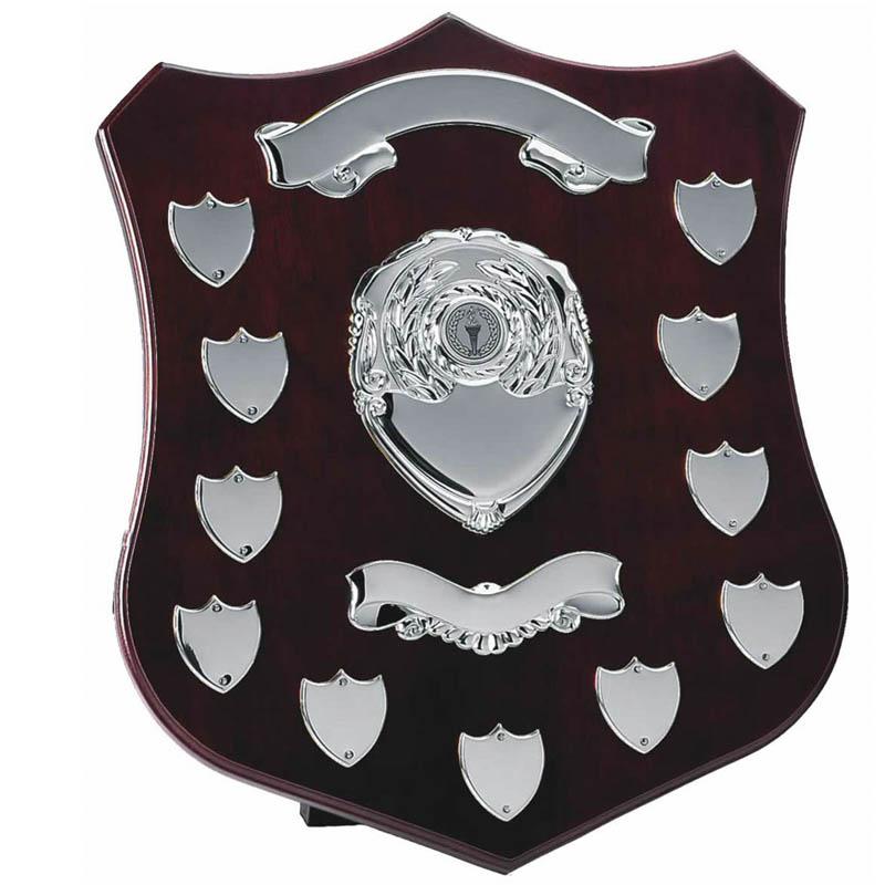 14 Inch Champion Silver Plate Annual Presentation Shield
