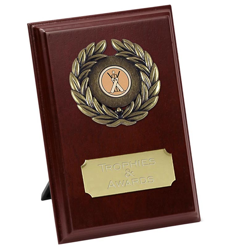 7 Inch Rectangle Wreath Design Plaque Award