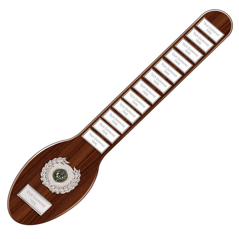 18 Inch Wooden Spoon & Multi Plaques Joke Westminster Award