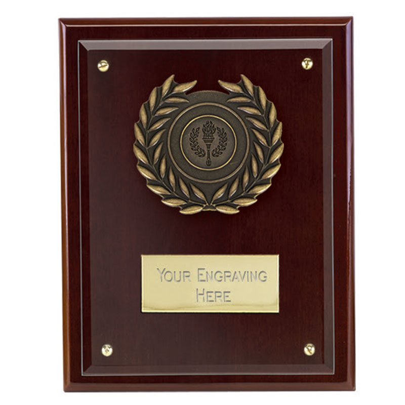 7 Inch Glass on Wood Primary Plaque