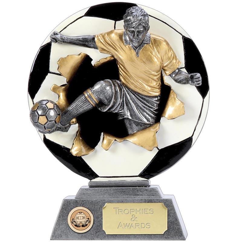 5 Inch Detailed Kick Football Xplode 2D Award