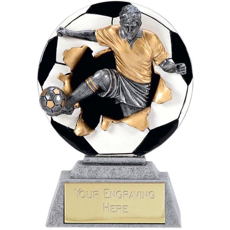 4 Inch Detailed Kick Football Xplode 2D Award
