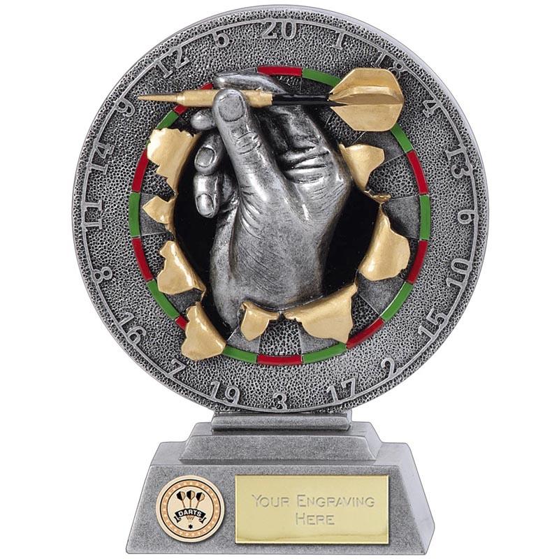 Detailed Throwing Hand Darts Xplode Award