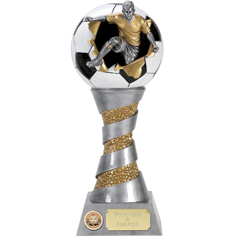 10 Inch Detailed Kick tower Football Xplode 3D Award