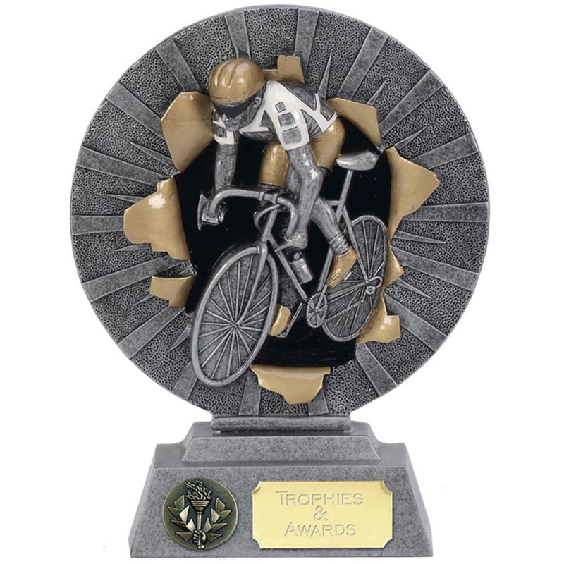 7 Inch Cyclist Cycling Xplode Award