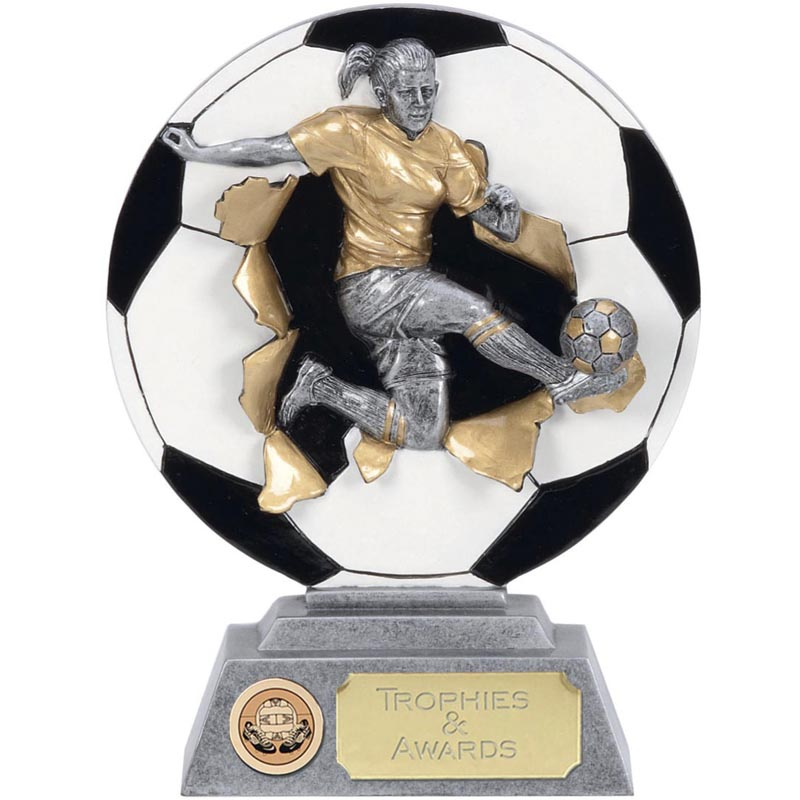 5 Inch Ladies Soccer Football Xplode 2D Award