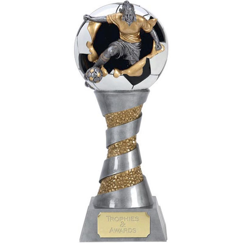 8 Inch Towering Ladies SOccer Football Xplode 3D Award