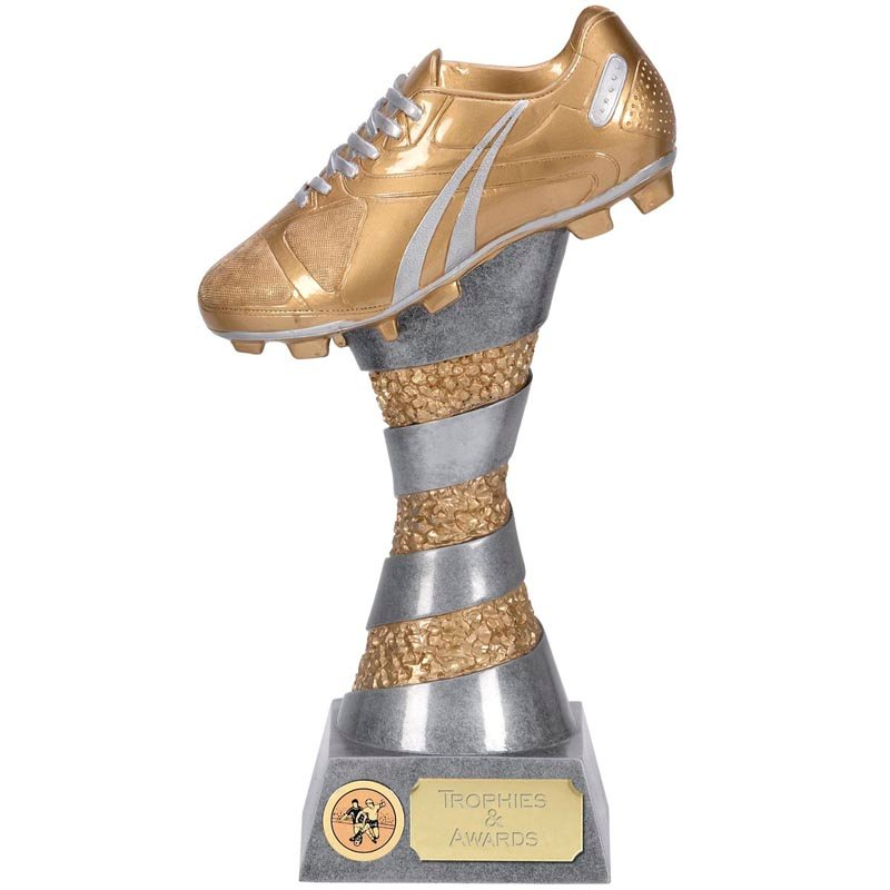 10 Inch Detailed Boot Tower Football Xplode 3D Award