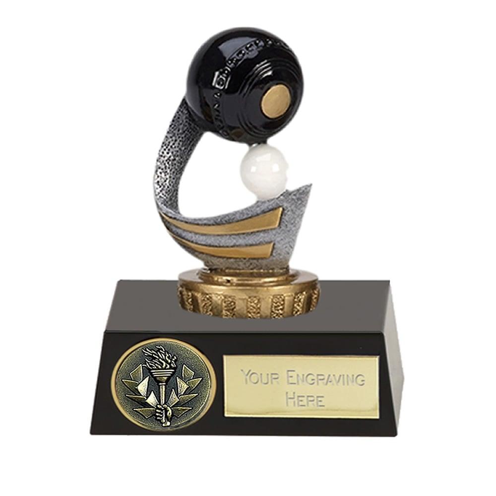 11cm Lawn Bowls Figure On Bowling Meridian Award