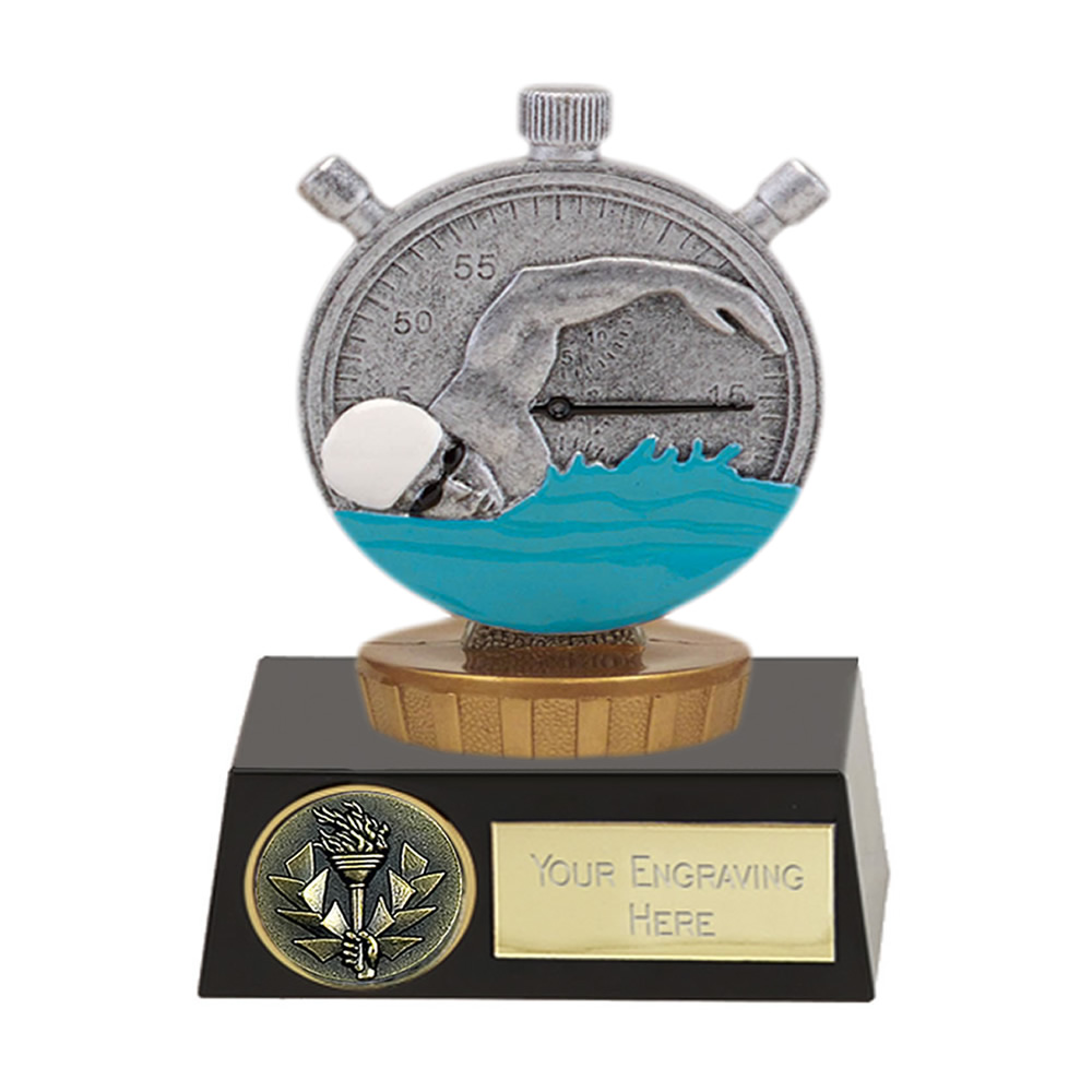 11cm Swimming Figure On Meridian Award