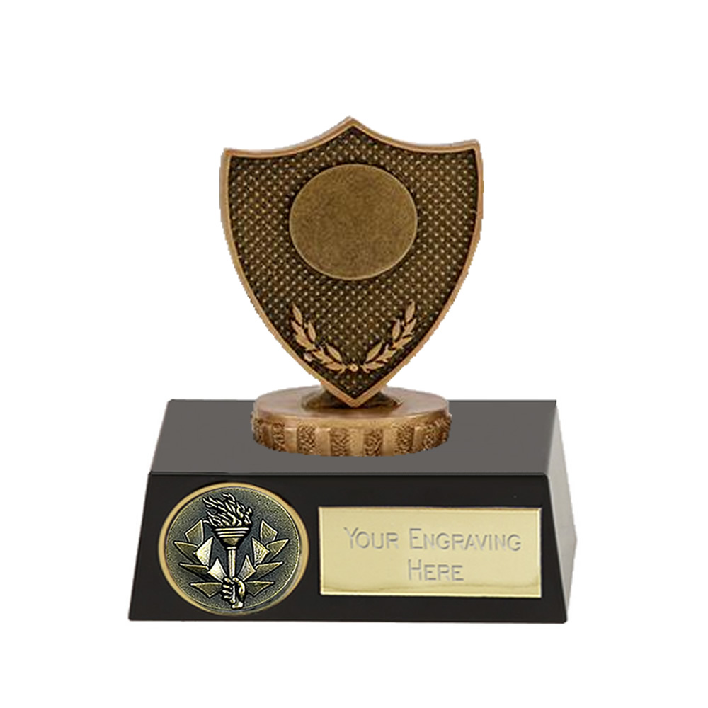 11cm Shield with Centre Figure on Meridian Award