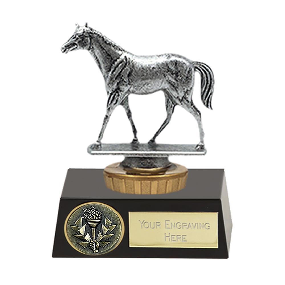 11cm Quarter Horse Figure On Horse Riding Meridian Award