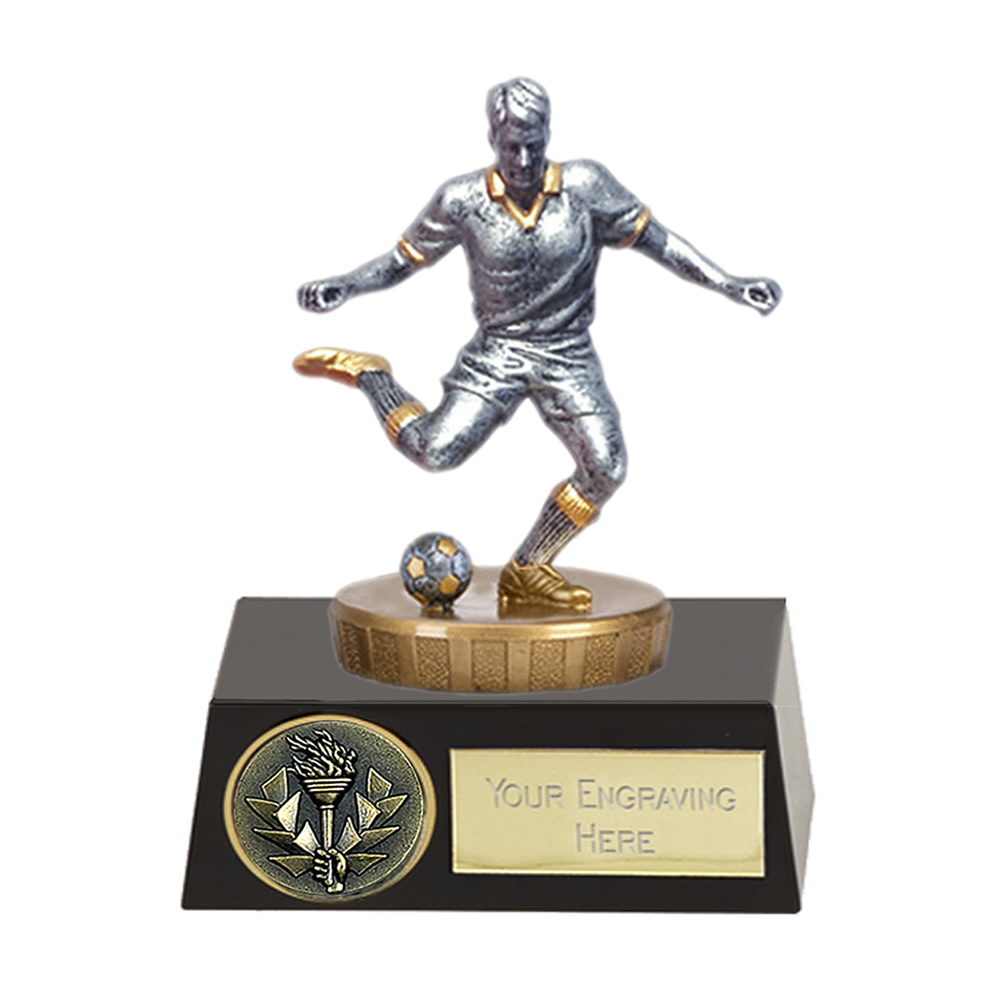 11cm Footballer Male Figure On Meridian Award