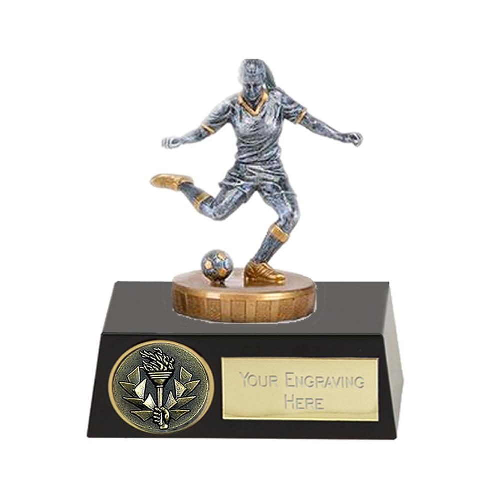 11cm Footballer Female Figure On Meridian Award
