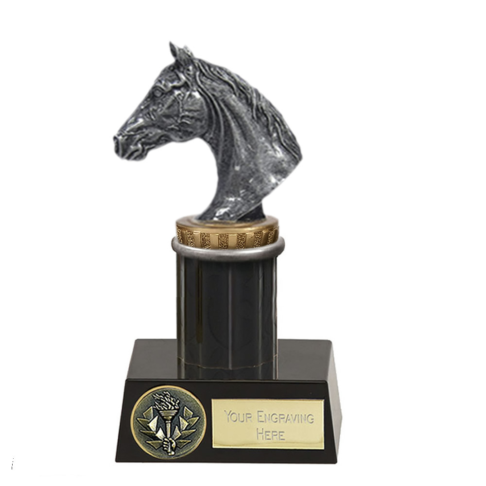 16cm Horse Head Figure on Horse Riding Meridian Award