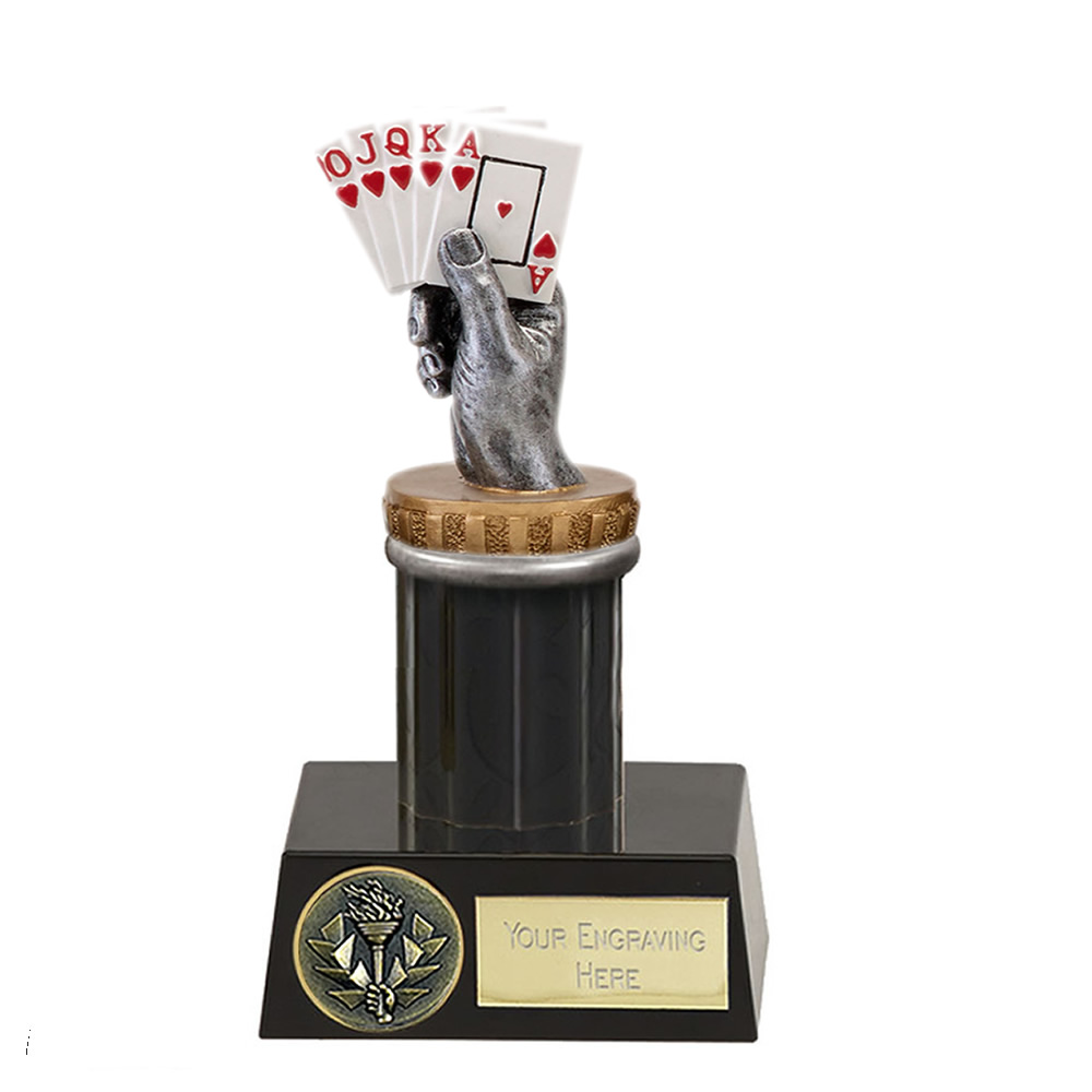 16cm Playing Cards Figure On Meridian Award