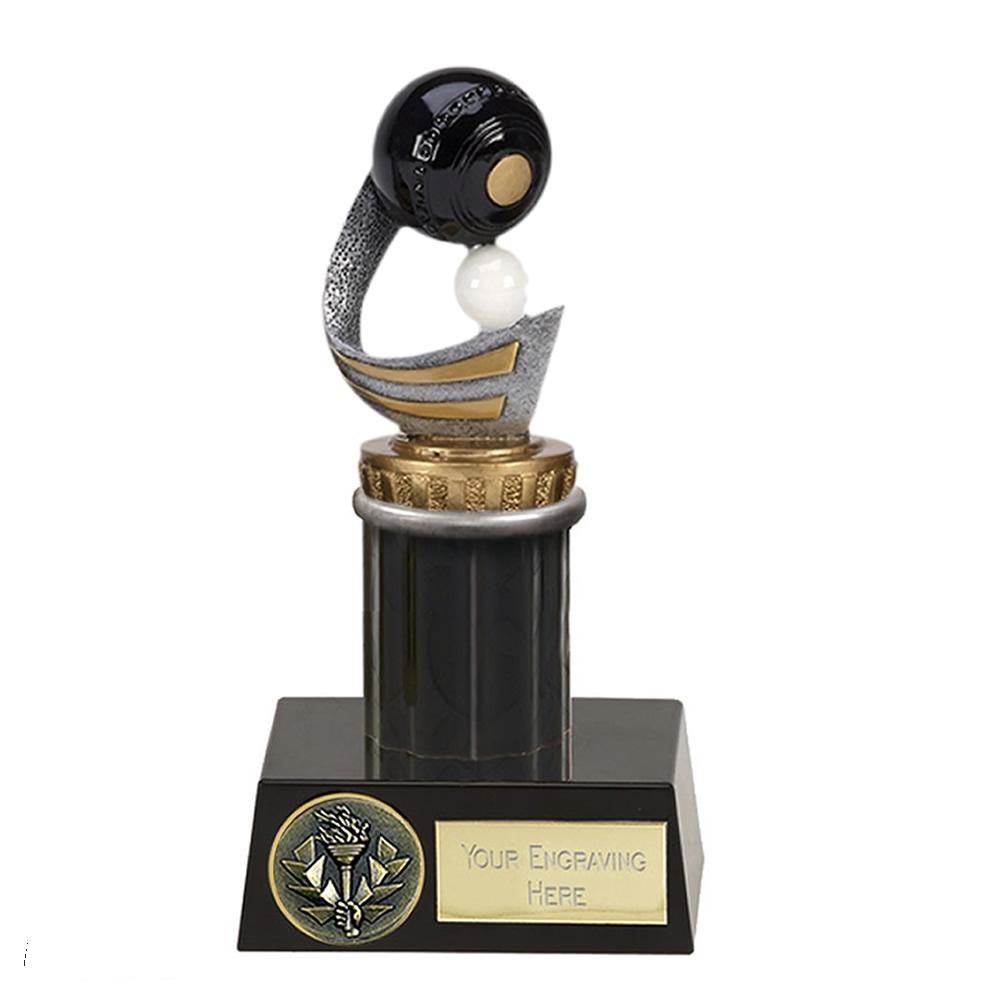 16cm Lawn Bowls Figure On Bowling Meridian Award
