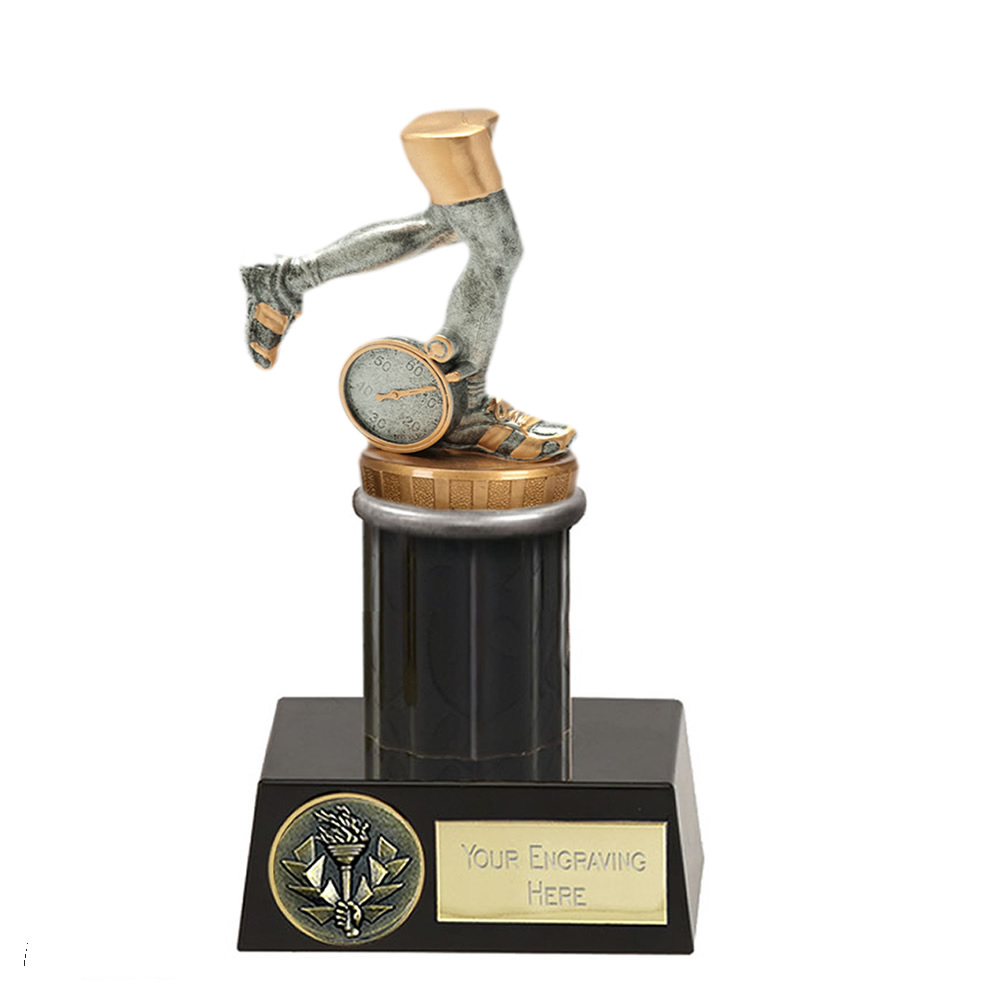 16cm Running Neutral Figure On Meridian Award