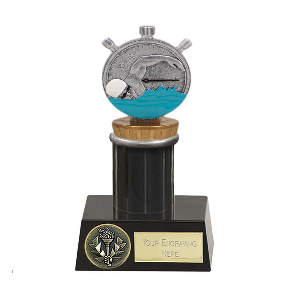 16cm Swimming Figure On Meridian Award