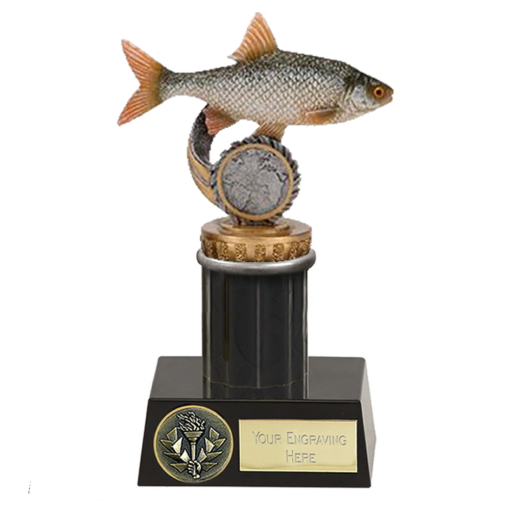 16cm Fish Roach Figure on Fishing Meridian Award