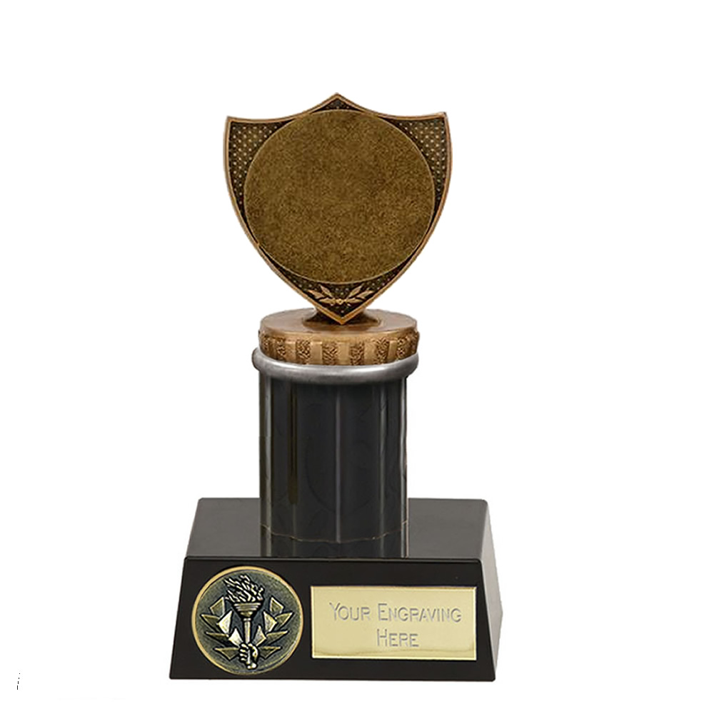 """16cm Shield with 2"""" Centre Figure on Meridian Award"""