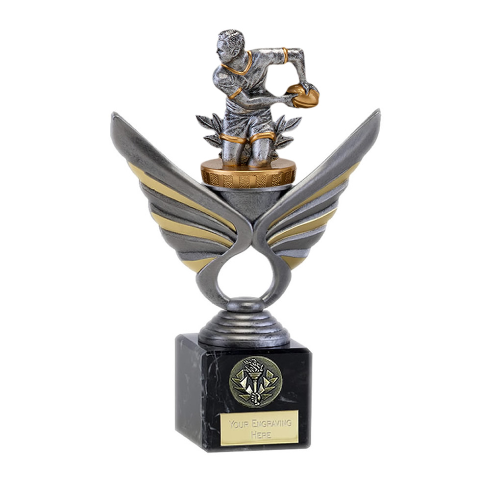 21cm Rugby Figure on Rugby Pegasus Award